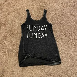 Maurices charcoal grey Sunday Funday tank